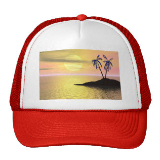 Sunset Palm Trees Hat
