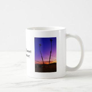 Sunset Palm Trees Basic White Mug