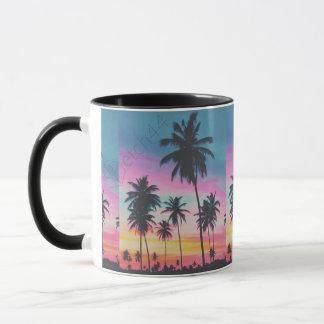 Sunset Palms coffee mug