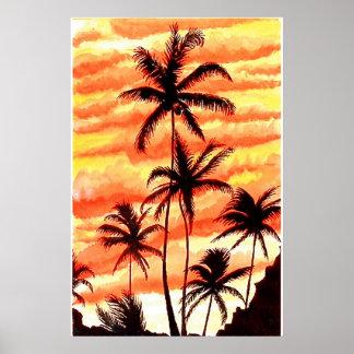 Sunset Palms Print