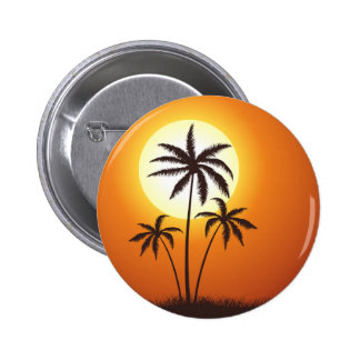Sunset palms sunset palms 6 cm round badge