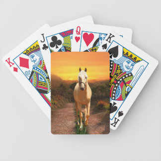 Sunset palomino bicycle playing cards