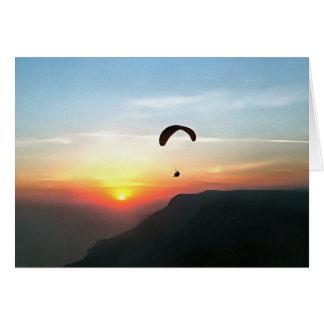 Sunset Paraglide Card