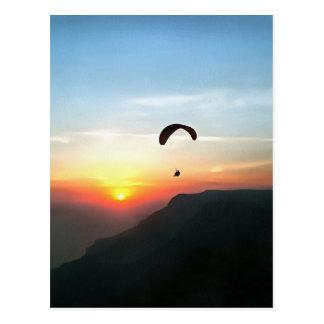 Sunset Paraglide Postcard