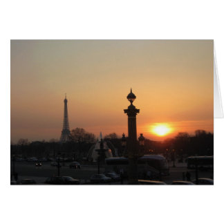 Sunset Paris Card