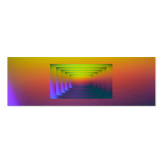 Sunset Pastel Bookmark Pack Of Skinny Business Cards