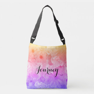 Sunset Pastel Floral Flowers Boho Journey Crossbody Bag
