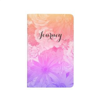 Sunset Pastel Floral Flowers Boho Journey Journals