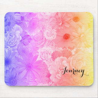 Sunset Pastel Floral Flowers Boho Journey Mouse Pad