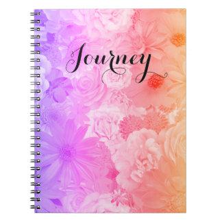 Sunset Pastel Floral Flowers Boho Journey Note Books