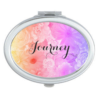Sunset Pastel Floral Flowers Boho Journey Travel Mirrors