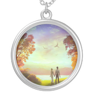 Sunset Path Silver Plated Necklace