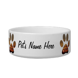 Sunset Paw Print ,Medium Pet Bowl