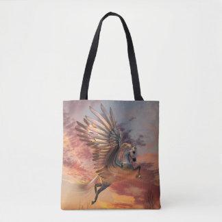 Sunset Pegasus All-Over-Print Tote Bag