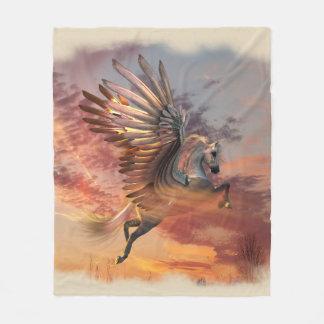 Sunset Pegasus Fleece Blanket, Med, pick colour