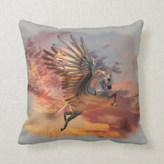 "Sunset Pegasus Throw Pillow 16"" x 16"" pick color"