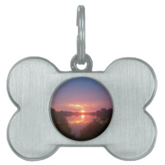 Sunset Pet ID Tag