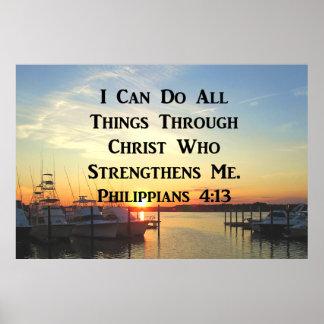 SUNSET PHILIPPIANS 4:13 SCRIPTURE DESIGN POSTER