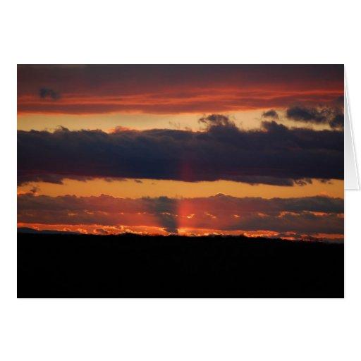 Sunset photograph greeting cards