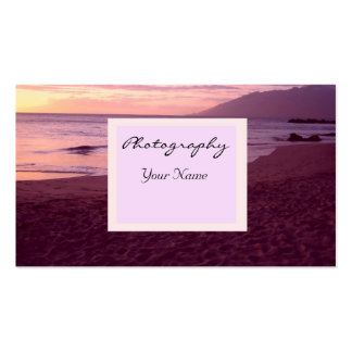 Sunset Photography Business Business Card Templates