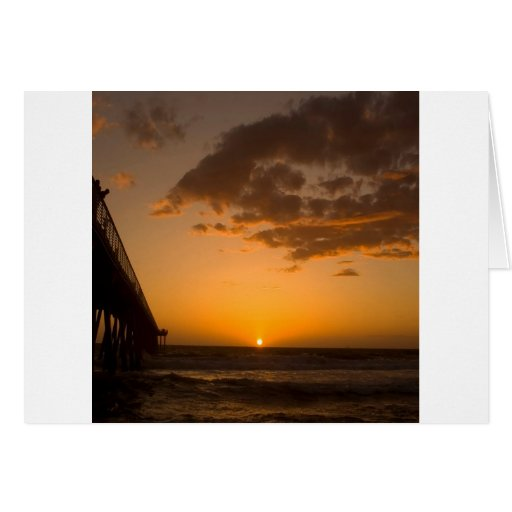 Sunset Pier Break Greeting Cards