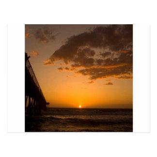 Sunset Pier Break Post Card