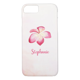 Sunset Plumeria Pink Watercolor iPhone 8/7 Case