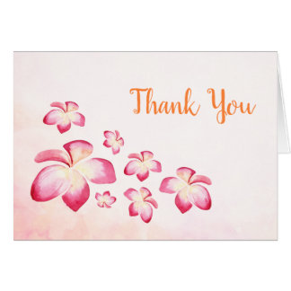 Sunset Plumeria Thank You Card