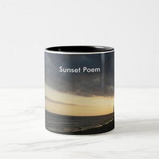 Sunset Poem Two-Tone Mug