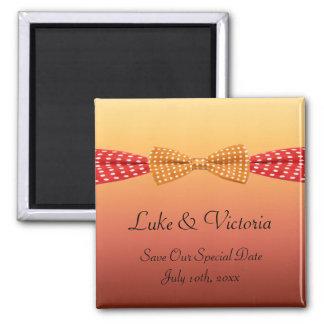 Sunset Polka Dot Summer Wedding Magnet