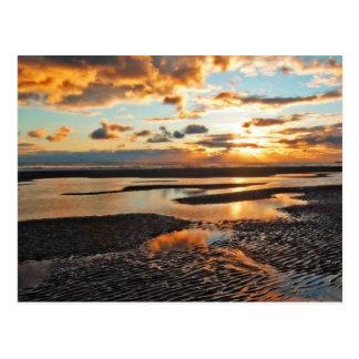 sunset postcard