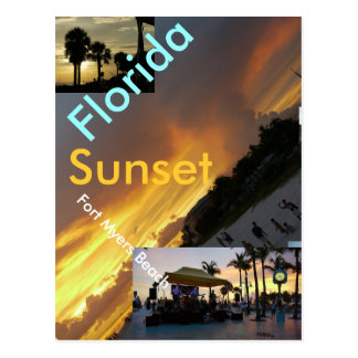 Sunset Postcard - Fort Myers Beach Florida