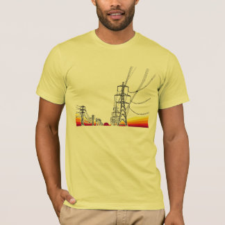 sunset powerlines T-Shirt