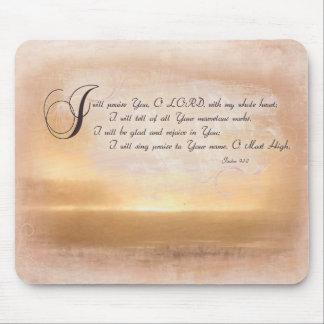 Sunset & Psalms / Inspirational Bible Verses Mouse Pad