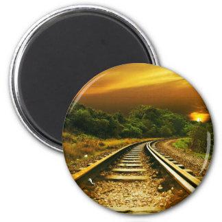 Sunset Rails Fridge Magnets