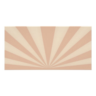 Sunset Rays Coral Photo Card