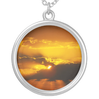 Sunset Rays Personalized Necklace
