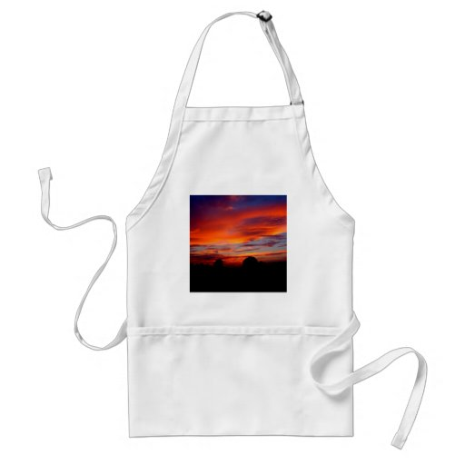 Sunset Red Humour Aprons