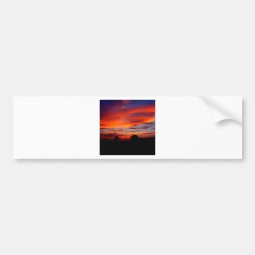 Sunset Red Humour Bumper Stickers