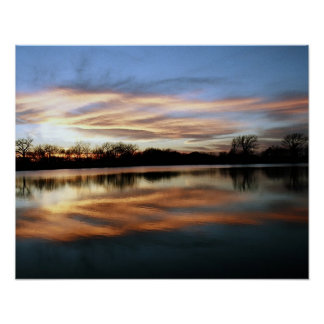 Sunset Reflection 2 Poster