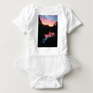Sunset Reflections Before the Storm Baby Bodysuit
