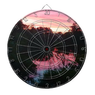 Sunset Reflections Before the Storm Dartboard