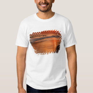 Sunset reflections off clouds and ocean shore tee shirt