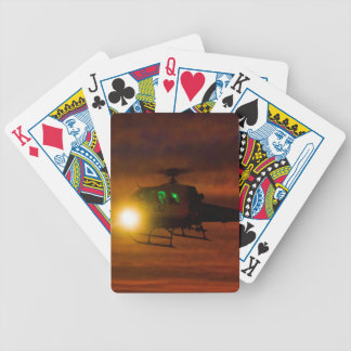 Sunset Rescue Bicycle Playing Cards