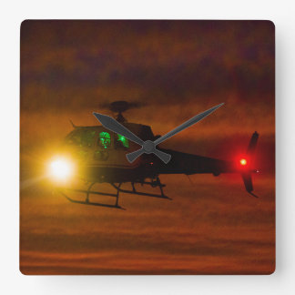 Sunset Rescue Square Wall Clock