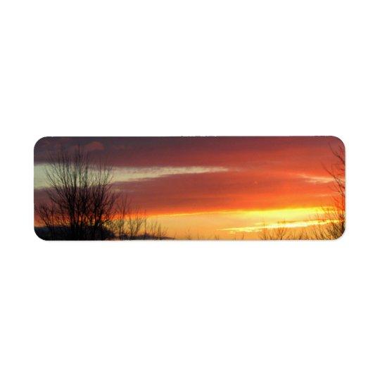 Sunset Return Address Label