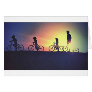 Sunset ride card