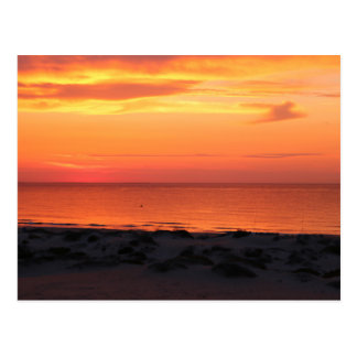 Sunset RK the beach - postcard