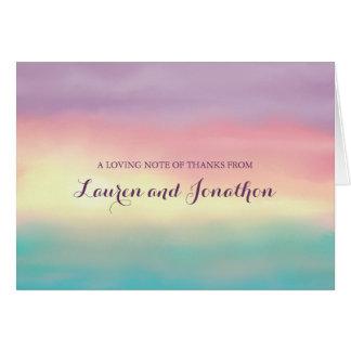 Sunset Romance | Thank You Card