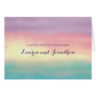 Sunset Romance | Thank You Note Card